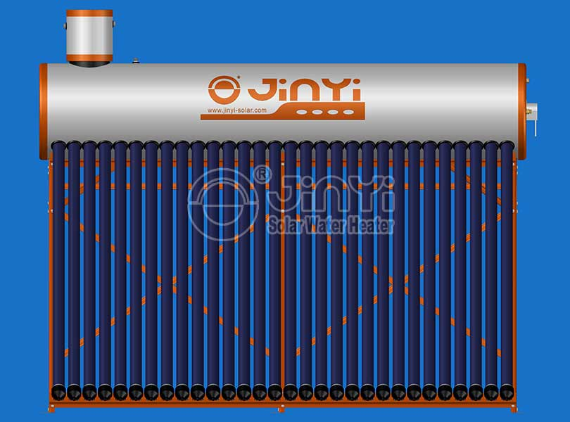 Pre-Heated Solar Water Heater Front View